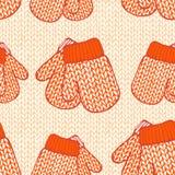 Nahtloses Muster mit Handschuhen Lizenzfreie Stockbilder