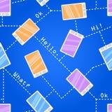 Nahtloses Muster mit Handys Stockfotografie