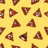 Nahtloses Muster mit Heck emojies Emoticonshintergrund Beschaffenheit Lizenzfreie Stockfotos