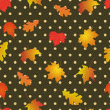 Nahtloses Muster mit hellem Herbstlaub Stockbild