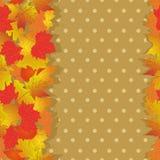 Nahtloses Muster mit hellem Herbstlaub Lizenzfreie Stockfotos
