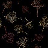 Nahtloses Muster mit Herbstblättern Auch im corel abgehobenen Betrag vektor abbildung
