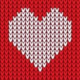 Nahtloses Muster mit Herzen stock abbildung