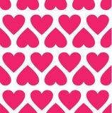 Nahtloses Muster mit Herzen. Vektorillustration Lizenzfreie Stockfotos