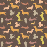 Nahtloses Muster mit Hund Lizenzfreie Stockbilder