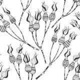 Nahtloses Muster mit Hunderosafarbenen Beeren Lizenzfreies Stockbild