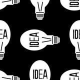 Nahtloses Muster mit Ideenkonzept Stockfoto