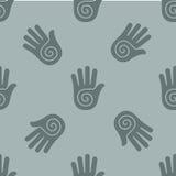 Nahtloses Muster mit ihren Händen Stockfotografie