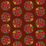 Nahtloses Muster mit indischen ethnischen Elementen stock abbildung