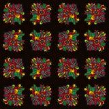 Nahtloses Muster mit indischen ethnischen Elementen vektor abbildung