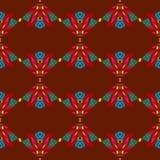 Nahtloses Muster mit indischen ethnischen Elementen lizenzfreie abbildung