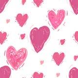 Nahtloses Muster mit Inneren Rosa Herz zwei vektor abbildung