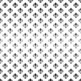 Nahtloses Muster mit königlicher Lilie Stockbilder