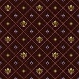 Nahtloses Muster mit königlicher Lilie Lizenzfreie Stockfotografie