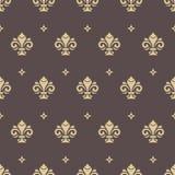 Nahtloses Muster mit königlicher Lilie Stockfotografie