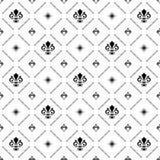 Nahtloses Muster mit königlicher Lilie Lizenzfreies Stockbild