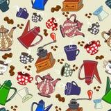 Nahtloses Muster mit Küchen-Werkzeugen Lizenzfreie Stockfotos