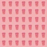 Nahtloses Muster mit Kaffeetasse stockfoto