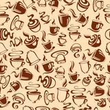 Nahtloses Muster mit Kaffeetassen Lizenzfreies Stockbild