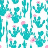 Nahtloses Muster mit Kaktus Lizenzfreies Stockfoto