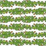 Nahtloses Muster mit Kaktusfeigekaktus Stockfotografie
