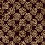 Nahtloses Muster mit kalligraphischen Elementen Lizenzfreies Stockfoto