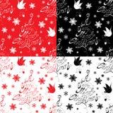 Nahtloses Muster mit kalligraphischen Text A sehr frohen Weihnachten Stockfotografie