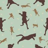 Nahtloses Muster mit Katzen Stockfoto