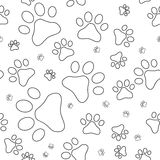 Nahtloses Muster mit Katzenabdrücken, Entwürfe Lizenzfreie Stockbilder