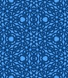 Nahtloses Muster mit keltischer Knotenverzierung von blauen Schatten vektor abbildung