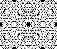 Nahtloses Muster mit keltischer Knotenverzierung von schwarzen, grauen und weißen Schatten stock abbildung