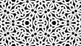 Nahtloses Muster mit keltischer Knotenverzierung von schwarzen, grauen und weißen Schatten vektor abbildung