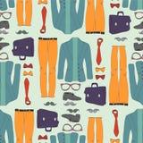 Nahtloses Muster mit Kleidung Stockfoto