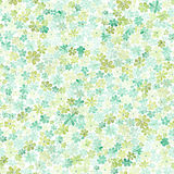 Nahtloses Muster mit kleinen grünen und gelben Blumen watercolor Stockbilder