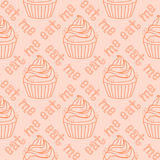 Nahtloses Muster mit kleinen Kuchen Stockfotografie