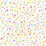 Nahtloses Muster mit Konfettis Stockfoto