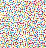 Nahtloses Muster mit Konfettis, Spaß-bunter Hintergrund Stockbilder