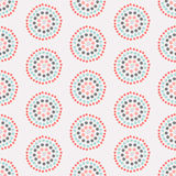 Nahtloses Muster mit konzentrischen Kreisen Lizenzfreie Stockfotografie