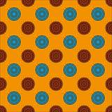 Nahtloses Muster mit konzentrischen Kreisen lizenzfreie abbildung