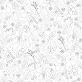 Nahtloses Muster mit Kräutern und Gewürzen Lizenzfreie Stockbilder