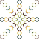 Nahtloses Muster mit Kreisen Lizenzfreie Stockbilder