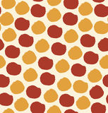 Nahtloses Muster mit Kreisen punktierte Hintergrund Lizenzfreies Stockbild