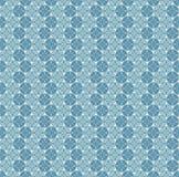 Nahtloses Muster mit Kreisen und abstrakten Blumen. Stock Abbildung