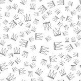 Nahtloses Muster mit Kronen Stockbild