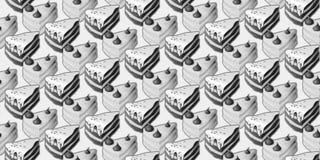 Nahtloses Muster mit Kuchen Stockfotografie