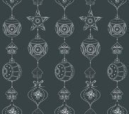 Nahtloses Muster mit Kugeln und Sternen Lizenzfreie Stockbilder