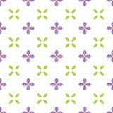 Nahtloses Muster mit lila Blume und Blatt Lizenzfreie Stockfotos