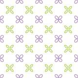 Nahtloses Muster mit lila Blume und Blatt Stockfoto