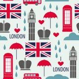 Nahtloses Muster Der Britischen Symbole Vektor Abbildung
