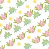 Nahtloses Muster mit lotos Stockfotografie
